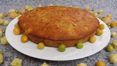 Image : Gâteau aux physalis