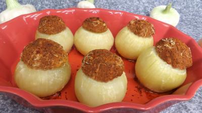 Cuisine diététique : Plat d'oignons farcis