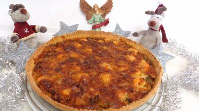 mozzarella : Tarte aux crevettes et chou romanesco