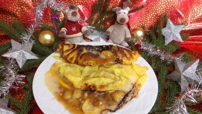 sucre : Omelette à la banane caramélisée