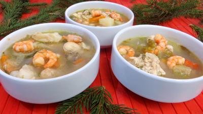 cumin : Soupe de crevettes