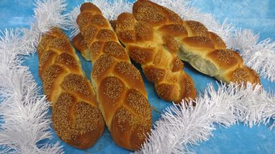 pâtes, farinages : Pain challah