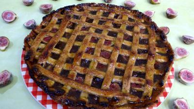 figue : Assiette de tarte à la confiture de figues