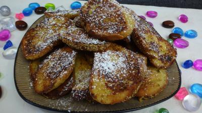 Desserts : Assiette de pains perdus sucrés