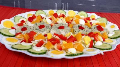 Recettes rapides : Reste de perche en salade