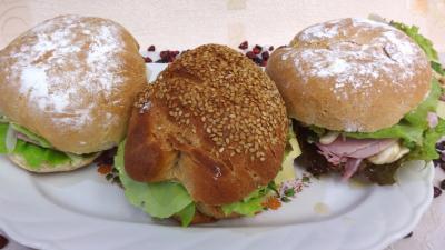 Recette Assiette de sandwichs champignons et beurre d'ail