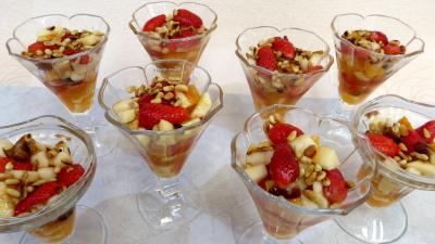 jus d'orange : Salade de fruits champenoise