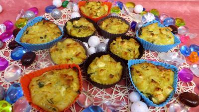 feta : Petits gâteaux de légumes de poireaux et pommes de terre