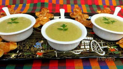 haricots verts : Crème vanillée de haricots verts