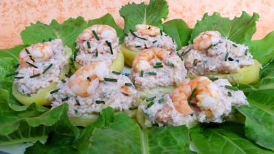 Coquillages et crustacés : Barquettes aux crevettes