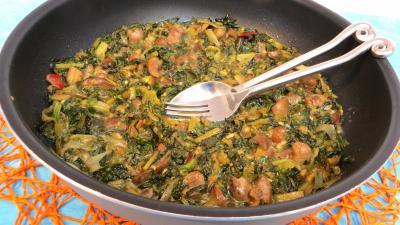sauge : Sauteuse de bettes aux anchois et rognons