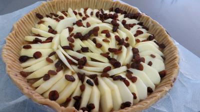 Tarte aux pommes et raisins secs - 4.4