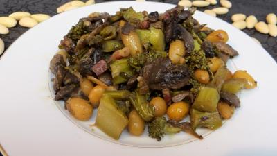 Recettes sans oeufs : Assiette de brocolis façon amandine