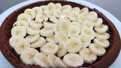 """Gâteau choco-bananes """"taupinière"""" - 7.3"""