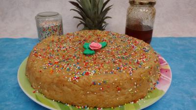 Gâteau : Gâteau de riz aux ananas