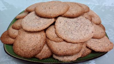 sucre : Assiette de biscuits capucine