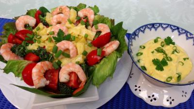 Pour débutants : Salade d'ananas et crevettes