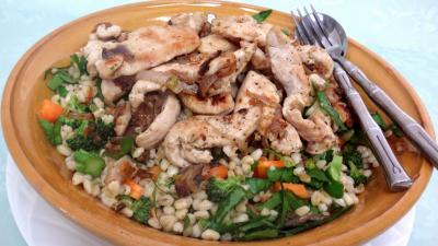 Entrées & salades : Plat de salade de blé aux blancs de poulet