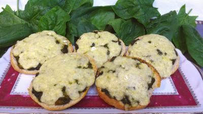 Entrées chaudes : Plat de tartines au Bresse bleu