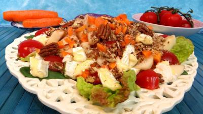 tomate : Salade de brie et poires
