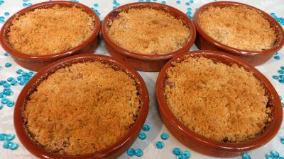 Desserts : Crumble aux kakis et bananes