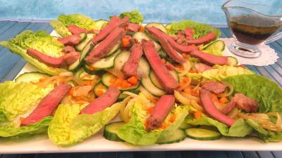 concombre : Plat de concombre et sa salade de bœuf