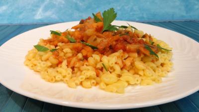champignon conserve : Assiette de coquillettes à la bûcheronne