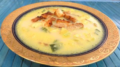 poulet : Potage à la crème et au curry