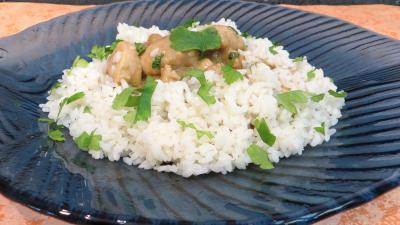 muscade : Assiette de blanquette de dinde au lait de coco