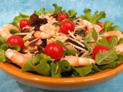 salades composées : Salade chinoise aux radis roses