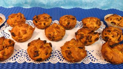 farine type 45 : Plat de muffins aux baies de goji