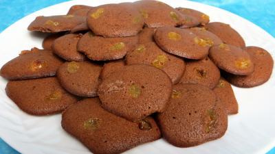 Dessert avec alcool : Assiette de palets au cacao