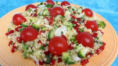jus de citron : Assiette de taboulé façon libanaise