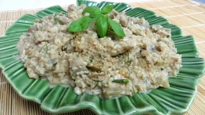 Légumes : Plat d'aubergines au couscous