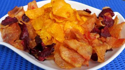 Image : Plat de patates douces et légumes frits