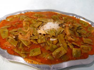 plat sucré salé : Plat de haricots plats à la vénitienne