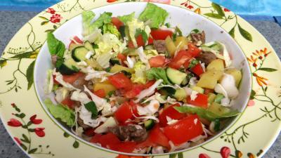 Légumes : Saladier de tomates en salade