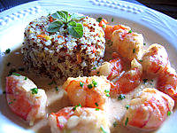 crevettes au curry et quinoa