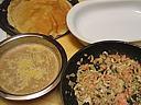 Crêpes aux champignons et au saumon fumé - 18.1