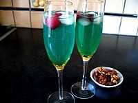 Photo : Cocktail valentin au champagne