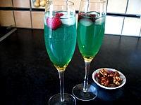 cocktail valentin au champagne