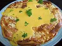 Gâteau de crêpes au sarrasin et tartare