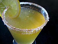 Image : Verre de cocktail sans alcool aux pommes pour diabétique