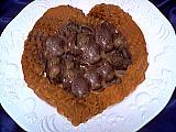 Image : Assiette de coeurs de canard au paprika