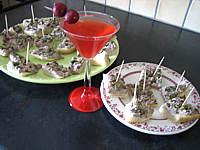 citronnelle : Assiettes de canapés de focacia au thon