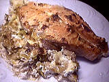 Image : recette Gratin de saumon au mascarpone