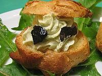 Pâte à choux : Petits choux de mascarpone et aux petits pois