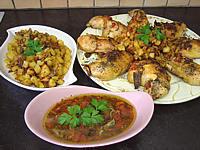Image : Assiette de cuisses de poulet à la provençale