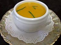 cardon : Mini-soupière d'amuse-bouche de crème de cardon