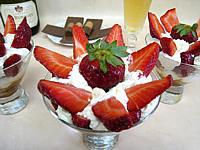 bergamote : Verrines de bananes et fraises chantilly